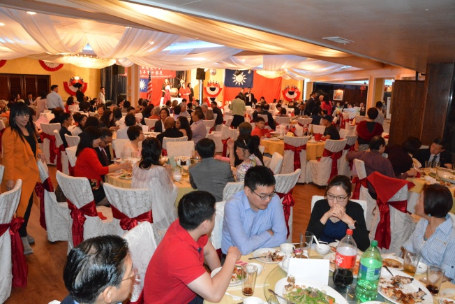 達拉斯國慶籌備會8日晚間於麒麟閣舉辦國慶慶祝餐會。(休士頓僑教中心提供)