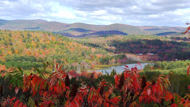 新英格蘭人擔心今年看不到盛妝秋景,但某些山區依舊美麗。(記者唐嘉麗/攝影)