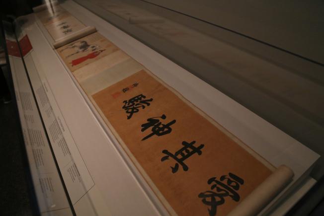 佛利爾館展出的乾隆時代書畫作品。(記者羅曉媛/攝影)