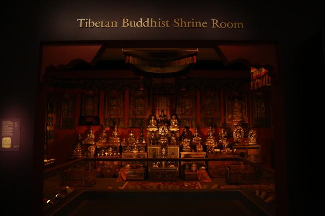 賽克勒館將首次展出亞洲各地的佛像單品,並還原當時的佛教文化現場。(記者羅曉媛/攝影)