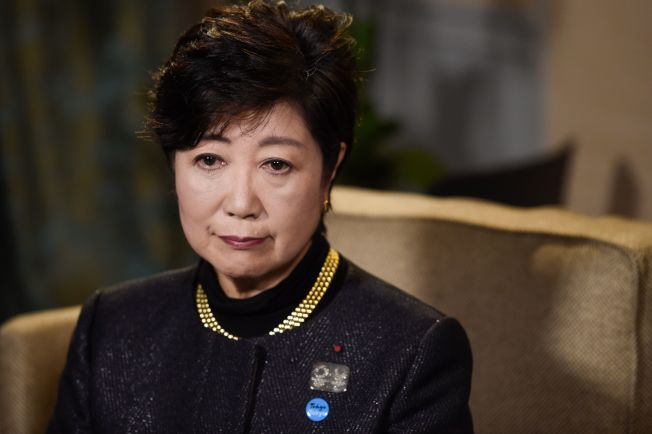 東京都知事、「希望之黨」黨主席小池百合子22日在巴黎表示敗選。(Getty Images)