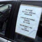 破窗竊盜猖獗 車主貼告示有用?