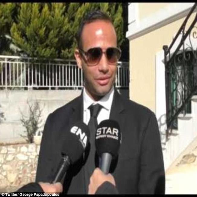 川普競選時的外交顧問帕帕多普洛斯。(路透)