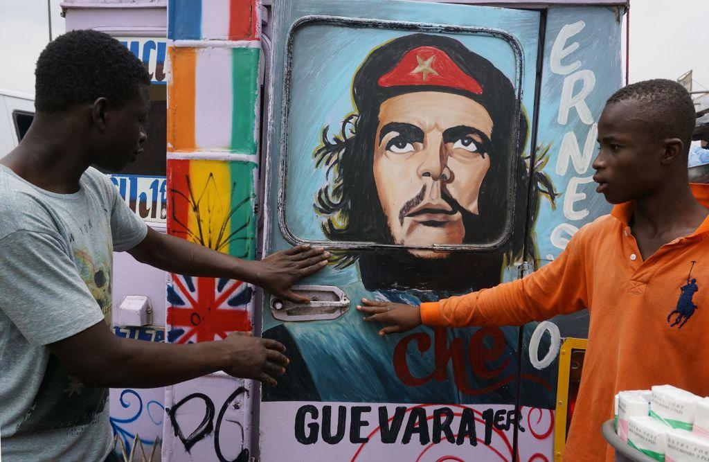 切‧格瓦拉的圖像被大量使用在革命、抗爭場合。(Getty Images)