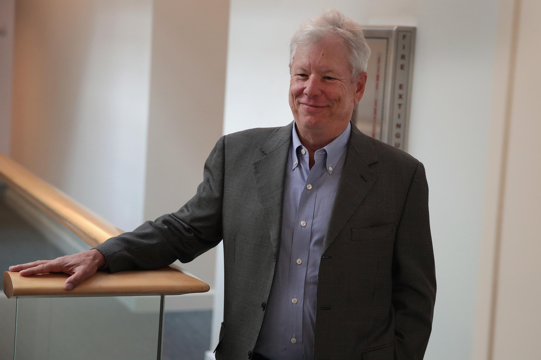 美國學者塞勒今天獲頒諾貝爾經濟學獎。Getty Images