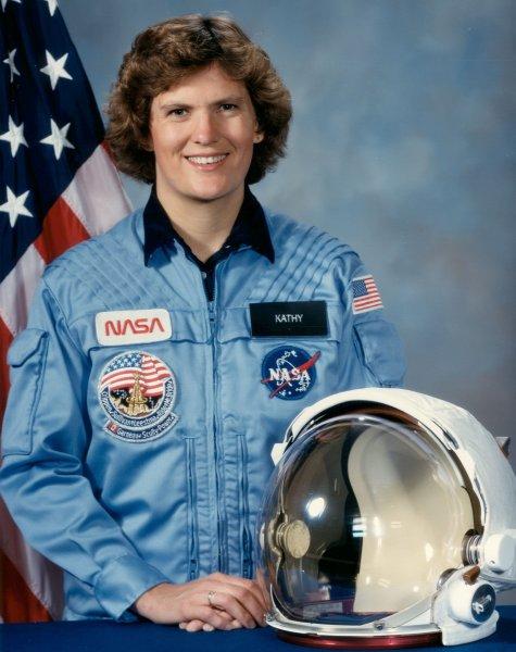 太空人蘇莉文(Kathryn D. Sullivan)成為第一位在太空上漫步的美國女太空人。圖/取自維基百科