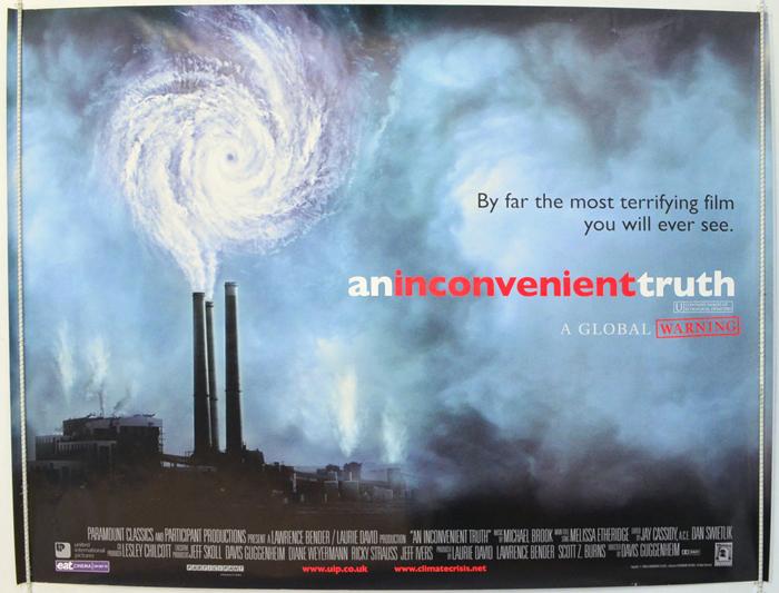 紀錄片「不願面對的真相 (An Inconvenient Truth)」海報。(網路圖片)