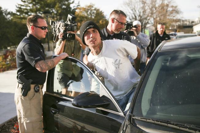 涉嫌槍殺郭宸瑋及其他多起槍擊案的奧斯汀‧伯坦遭逮捕。(美聯社)