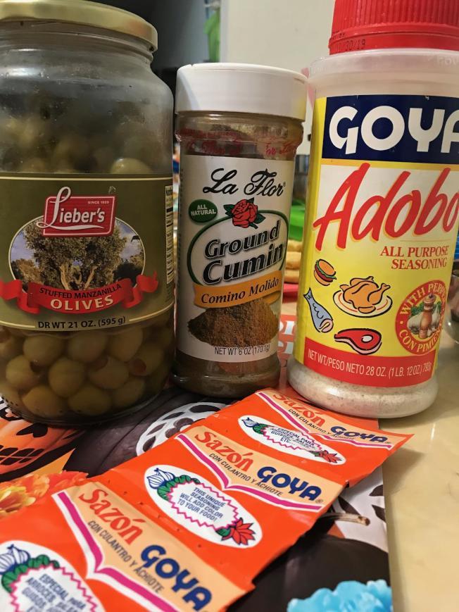 波多黎各雞腿飯使用調味料