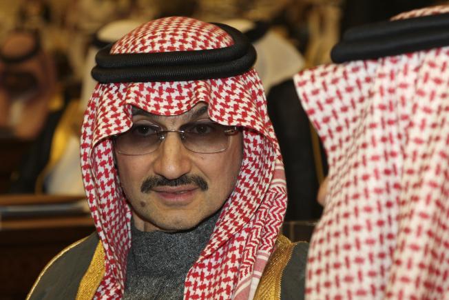 沙國億萬富翁、號稱中東股王的阿瓦里德親王四日被捕。(美聯社)