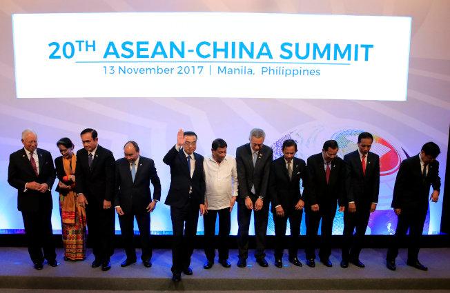 李克強13日出席東協「10+1(中國)」峰會。(美聯社)