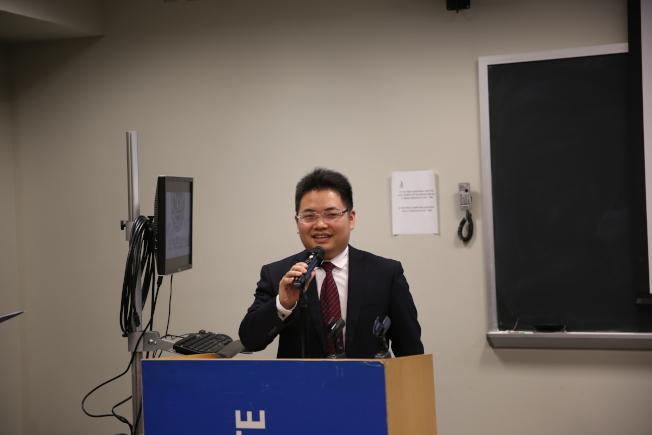 蔣川在紐約開啟中國象棋海外推廣活動。(記者洪群超/攝影)