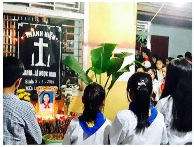 越南河靜省一名14歲少女黎氏紹在睡夢中遭電死。圖擷自 baomoi(11/14)