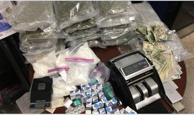 警方在波羅園的一棟住宅內發現大量毒品。(66分局提供)