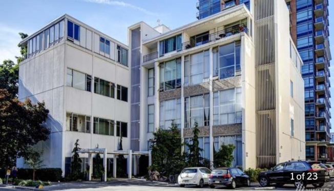西雅圖市區Union街上的統艙式公寓,五年前20萬出頭,目前賣到37萬以上。(RedFin)