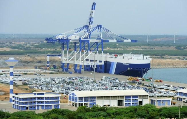 斯里蘭卡的漢班托塔港,業務並沒有預估的興盛,有些冷清。(Getty Images)