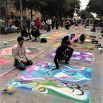 街頭塗鴉 藝術家熱鬧過節