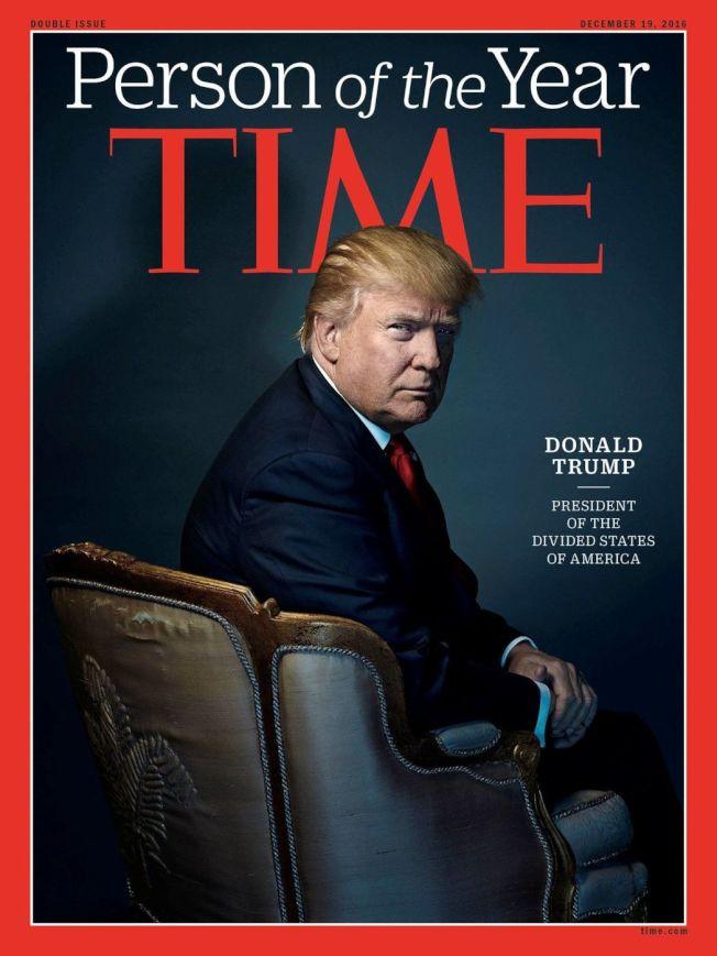 川普是時代雜誌2016年的年度風雲人物。(路透)