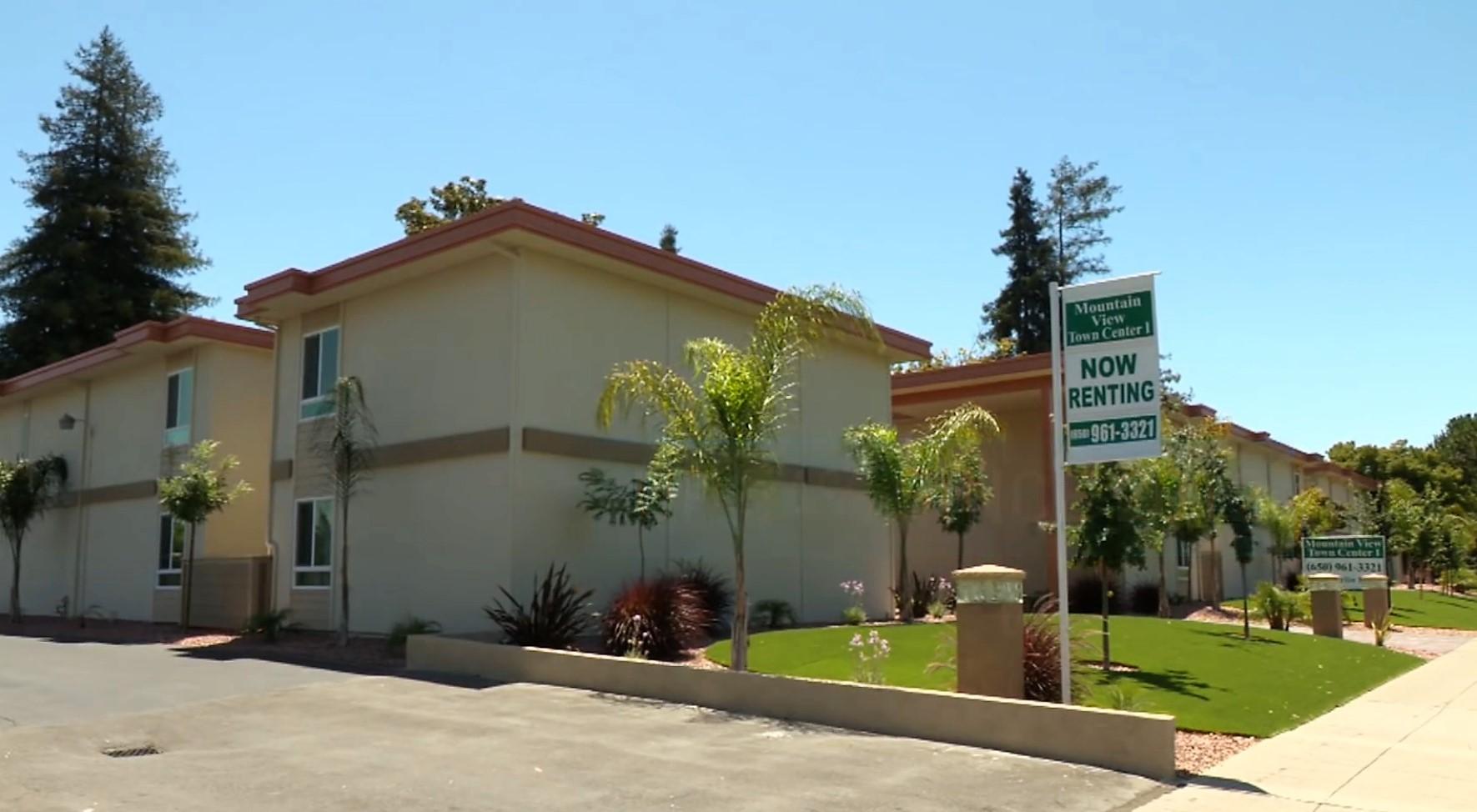 矽谷山景市一處出租公寓,一房一廳、居住空間600平方英尺,月租2590元。(特派員許惠敏/攝影)