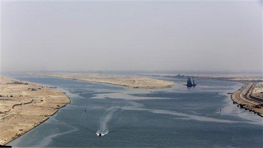蘇伊士運河。美聯社
