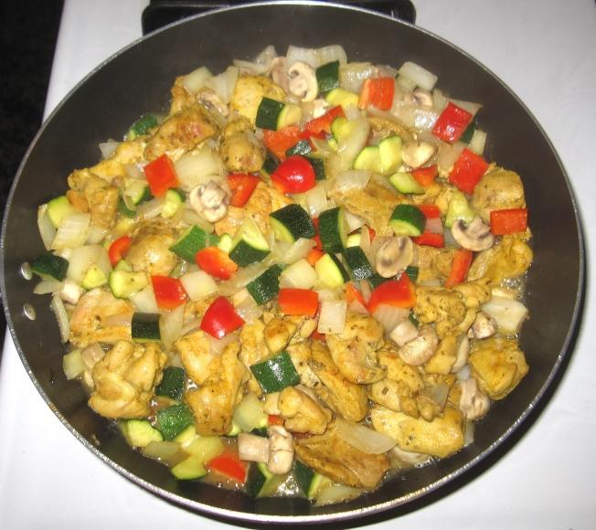 什錦蔬菜薑黃雞
