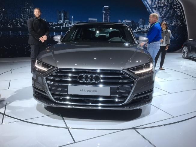 比其他A系列轎車更大的Audi 2019 A8有望在2018年底上市。(記者謝雨珊/攝影)