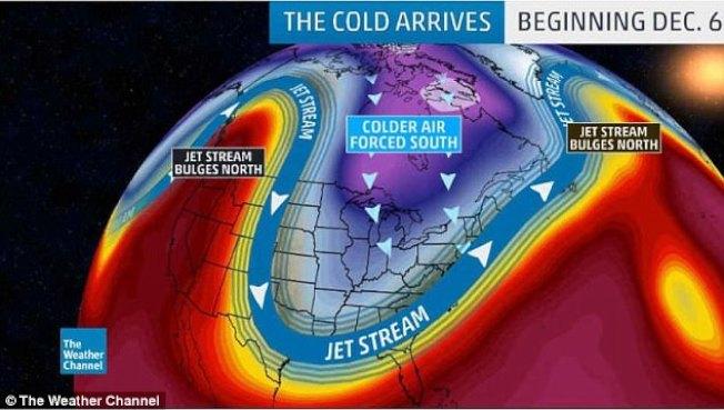 全美許多地區這周將遭受暴風雪或寒流侵襲。(氣象頻道)