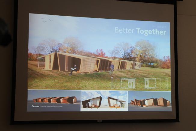 小房屋設計概念圖之一Better Together。(記者張毓思/攝影)