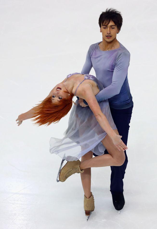 俄羅斯冰舞選手在巴黎大獎賽表現突出。(Getty Images)