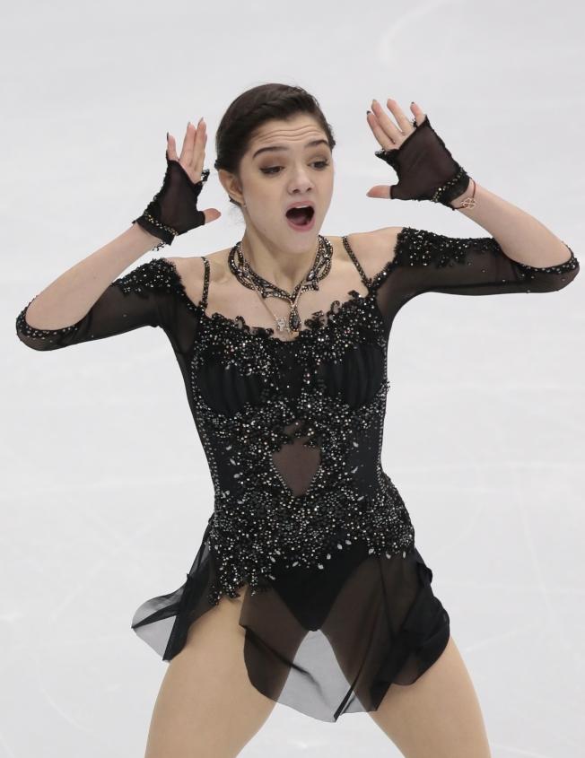 俄羅斯女子花樣滑冰選手梅德維德娃是兩屆世錦賽冠軍。(美聯社)