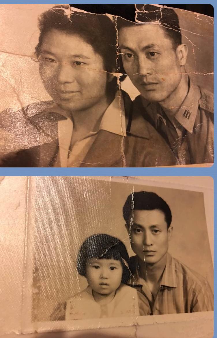 父母在他一歲時就離婚,王祖瓊手邊沒有與母親張富有的合照。只有父親與母親的合照,以及他小時與父親的合照。(圖:王祖瓊提供)