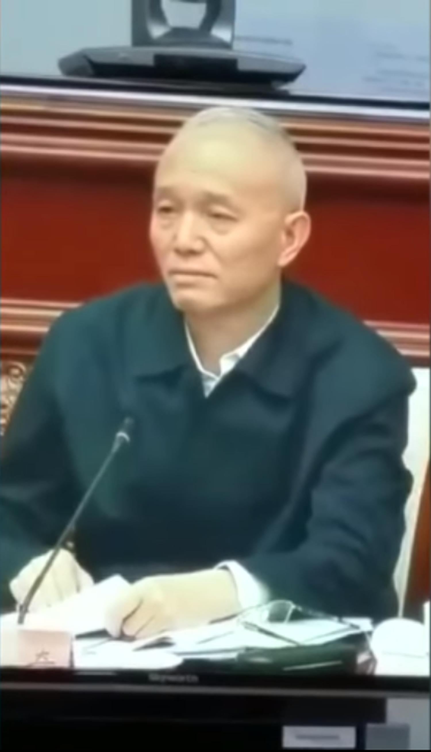 蔡奇在一場內部會議上措辭嚴厲,要求下屬敢於硬碰硬。(視頻截圖)