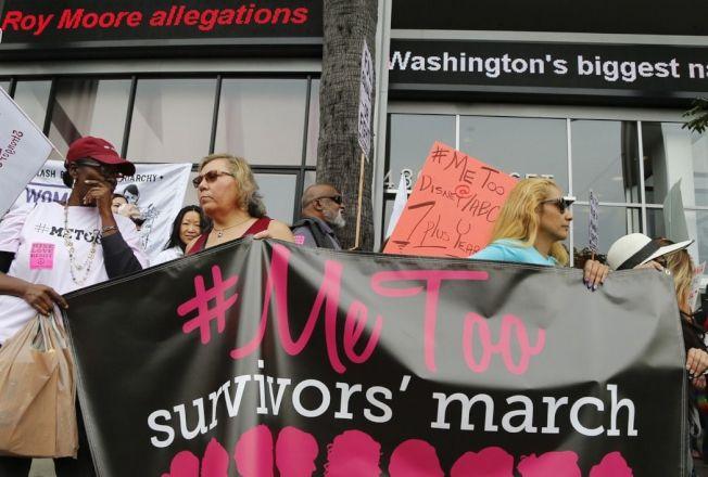 #MeToo(我也是)運動在全美風起雲湧。美聯社