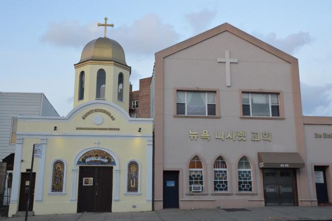 木邊地區多移民聚居,有許多各具風格的教堂,圖為韓國教堂。(記者牟蘭/攝影)