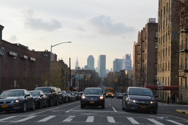 木邊因緊鄰曼哈頓,且房價較低,被通勤族追捧。(記者牟蘭/攝影)