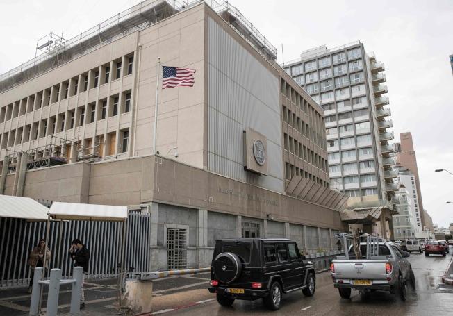 美國在特拉維夫的大使館。(Getty Images)