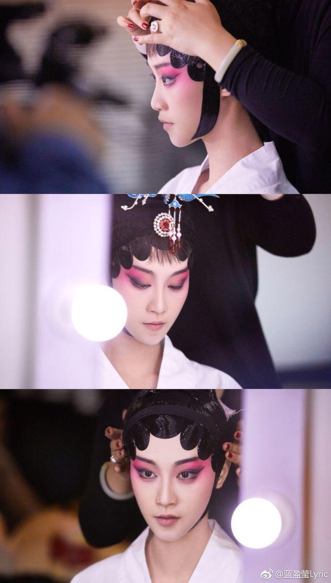 藍盈瑩走紅,但內心相當平淡,「我是青衣,不是花旦。」(取材自微博)
