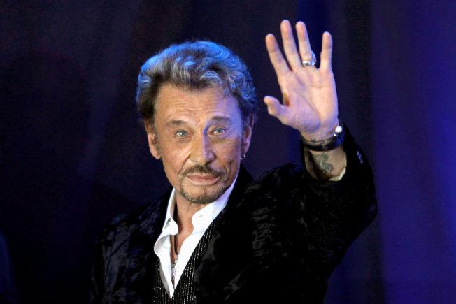 老牌搖滾巨星「法國貓王」強尼哈勒戴病逝。(路透)