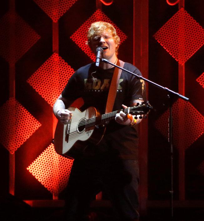 紅髮艾德平均每個月吸引4700萬聽眾,在Spotify稱霸群雄。(路透)