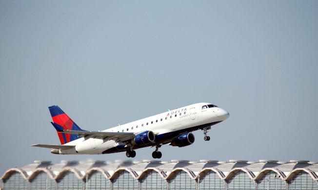 達美航空班機,圖非新聞所提班機照片。路透