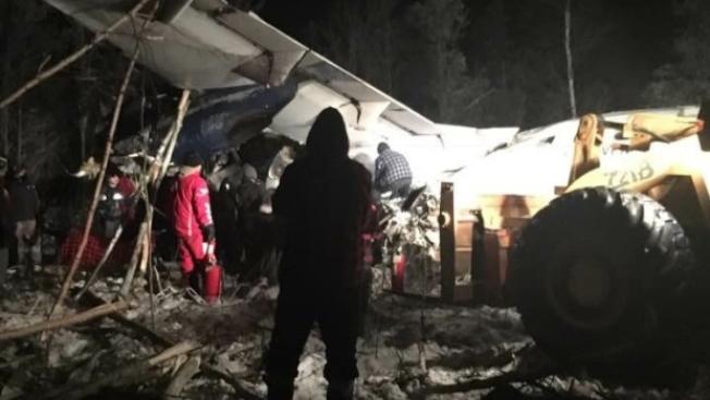 加拿大西風航空ATR-42班機發生墜機意外,所幸無人身亡。(取材自CBC推特)