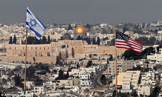 川普總統承認耶路撒冷為以色列永遠首都,決定遷館,引發國際強烈不滿,聯合國大會並通過不予承認。(Getty Images)