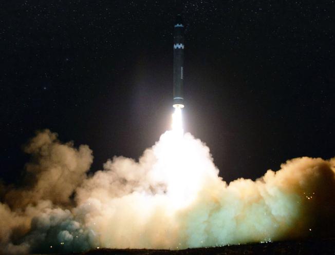 北韓連續試射導彈,威脅區域安全,並擾亂全球秩序。(美聯社)
