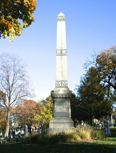 Green-Wood墓地的紀念碑。圖取自Green-Wood.com