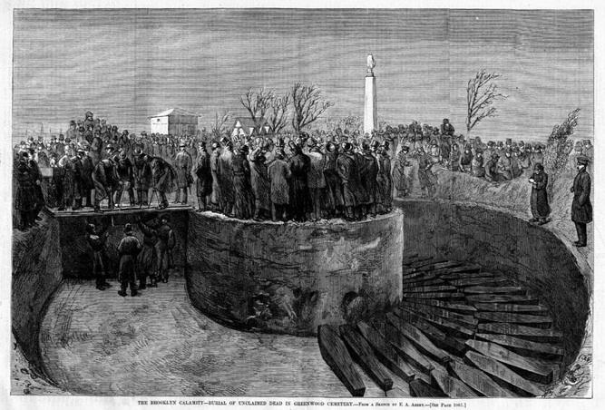 1876年12月5日布碌崙戲院大火。圖取自Green-Wood.com