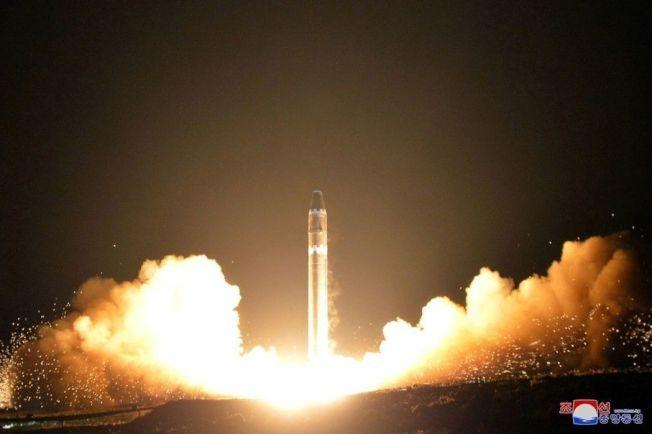北韓發射洲際彈道飛彈。 美聯社資料照片