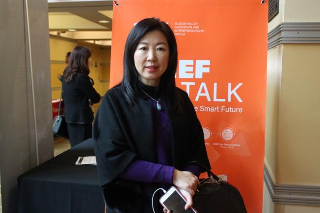 矽谷高創會創始人與執行主席雷虹,認為中國人工智慧發展可能超越美國。(記者張毓思/攝影)