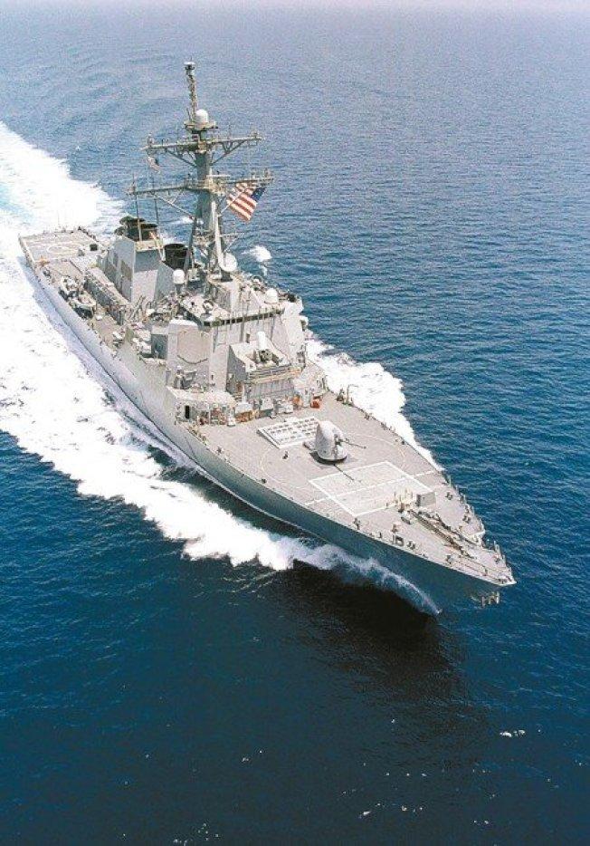 美军提康德罗加级神盾巡洋舰「安提坦号」与柏克级神盾驱逐舰「柯蒂斯威尔伯号」(见图)日前通过台湾海峡。图/美国海军资料照片