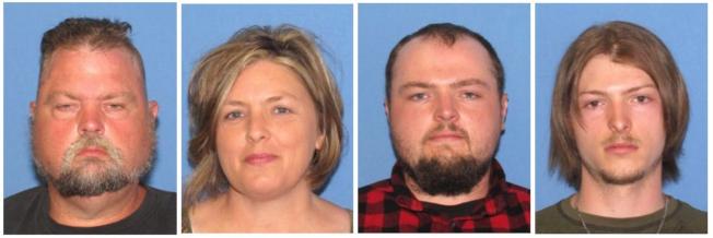 韦格勒一家四人因涉嫌2016年俄亥俄州一家八口命杀案,13日被捕。 (美联社)