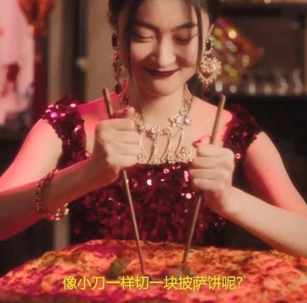 Dolce & Gabbana在IG惹议的影片截图。图/截自IG